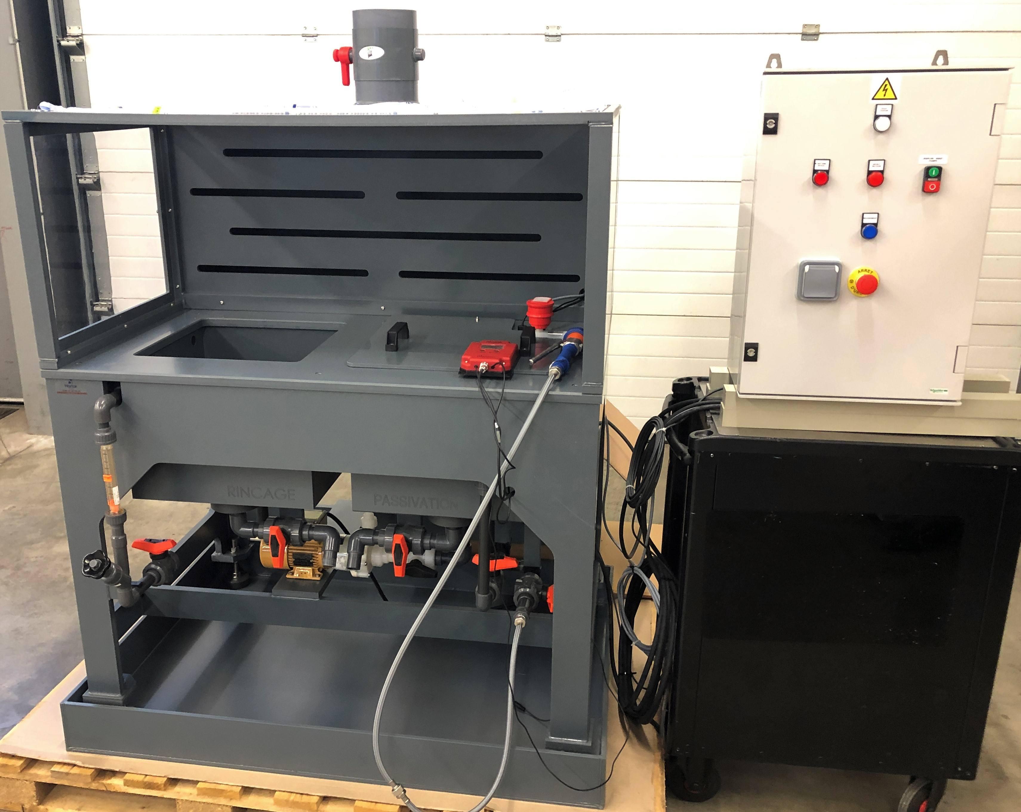 Passivation Inox avec pompe centrifuge de brassage HENDOR